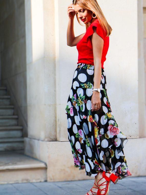 derhy-top-rojo-falda-asimetrica-flores-3