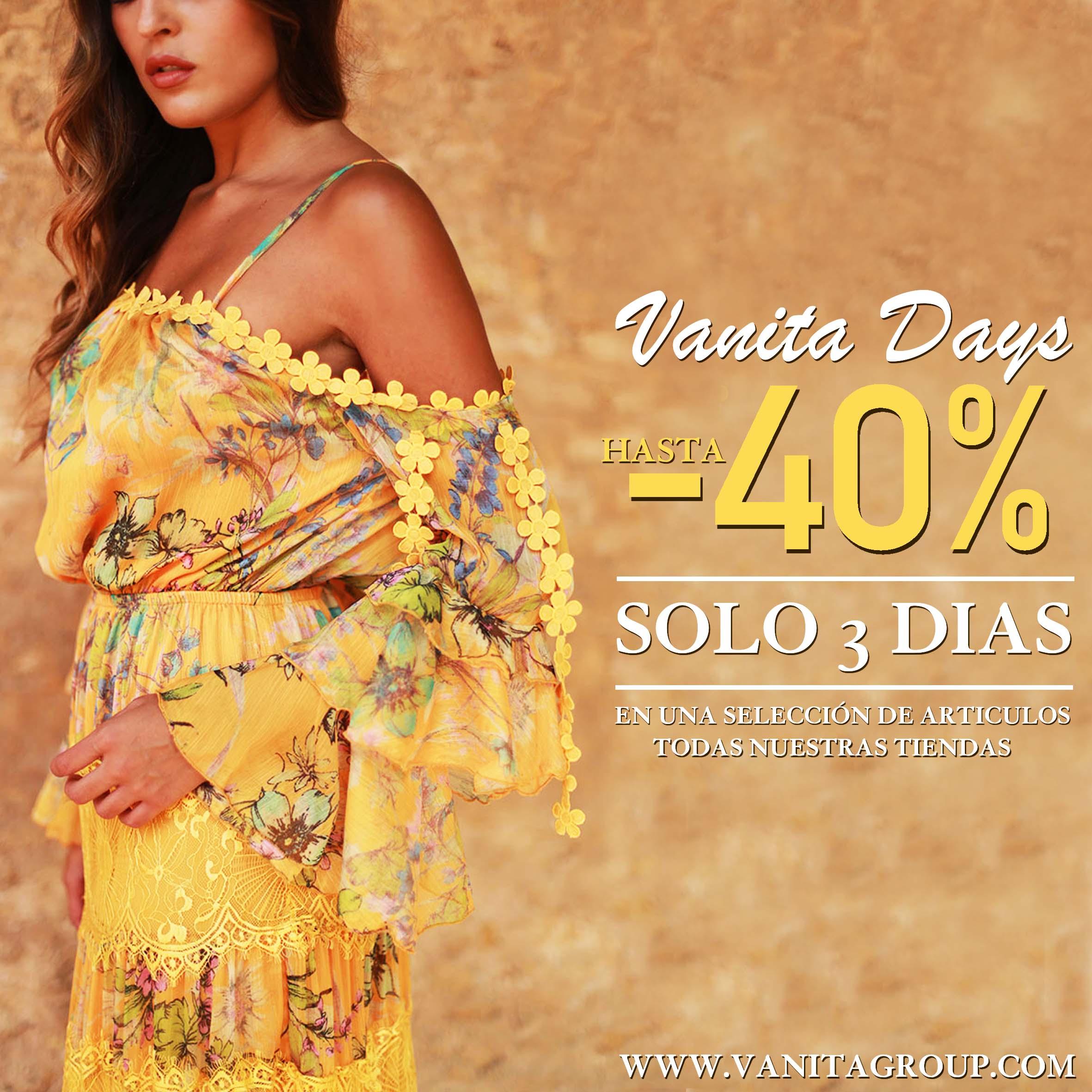"""Disfruta de 3 dias de rebajas al -40% en """"Vanita Days"""""""