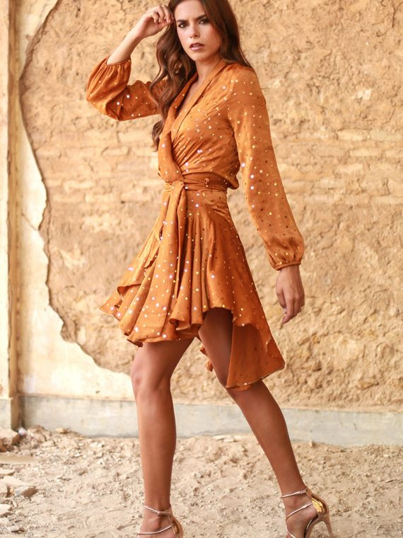 vestido caldera naranja valeria sexy 2
