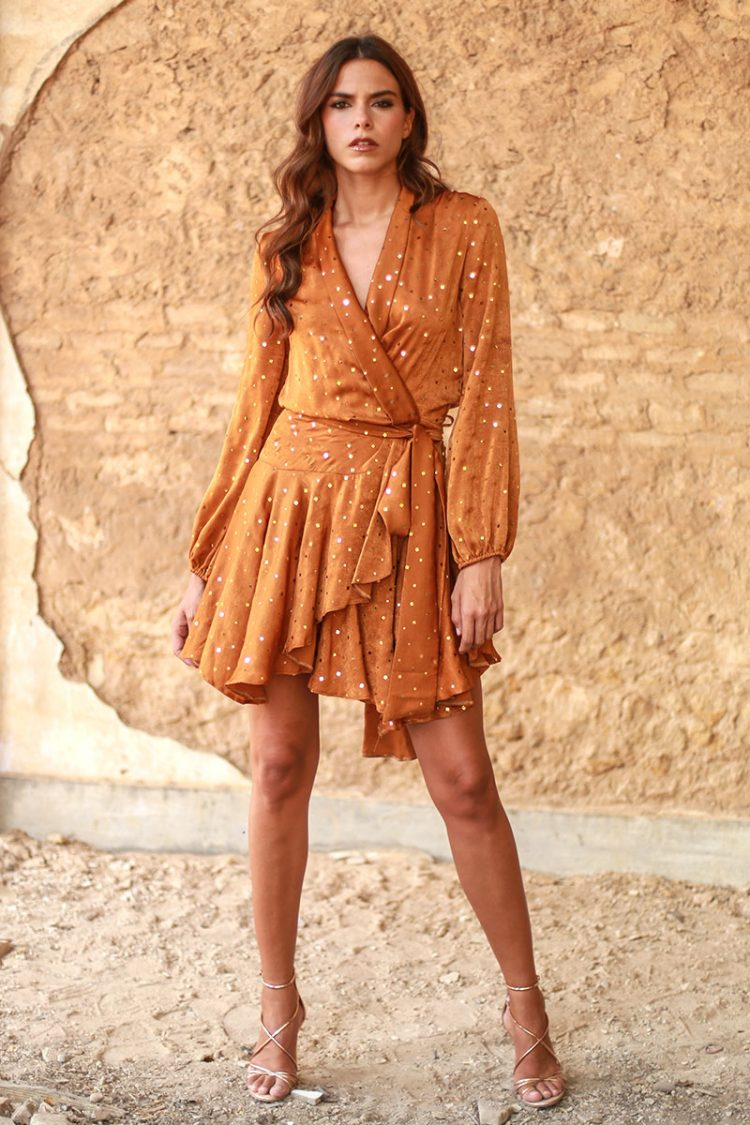 vestido caldera naranja valeria sexy